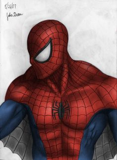 Colorized Spider-Man by JakeGreen on deviantART °°