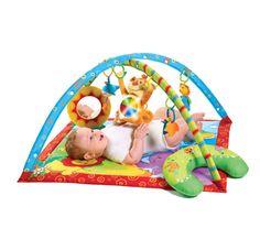 Pentru 0+    Cuprinde o varietate de activităti de dezvoltare distractive, incluzând o pernă specială pentru statul pe burtică. O saltea completă de joacă, creată pentru a încuraja dezvoltarea fizică, senzorială şi emoţională a bebeluşului. Centrul de joacă ajută la întărirea muşchilor bebeluşului implicaţi în funcţiile motorii de bază.