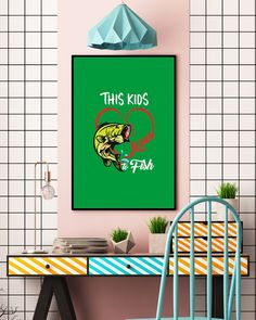 Fishing This Kids Loves to Fish T-Shirt - Kelly #pompier #firefighter #bomberos fishing lures, bass fishing, fishing gear, back to school, aesthetic wallpaper, y2k fashion