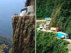 One of the world's most dangerous roads: The Road of Death -  Bolivia