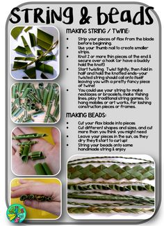 Fun, simple Harakeke/Flax activities for kids Leaf Crafts, Diy Home Crafts, Crafts For Kids, Flax Weaving, Basket Weaving, New Zealand Flax, Flax Flowers, Weaving For Kids, Maori Art