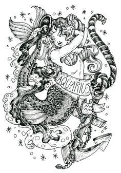 Aquarius Horoscope for December 15 2019 Mermaid tattoo Aquarius Art, Aquarius Tattoo, Aquarius Horoscope, Aquarius Woman, Zodiac Tattoos, Body Art Tattoos, Tattoo Art, Full Moon In Sagittarius, Tatoo