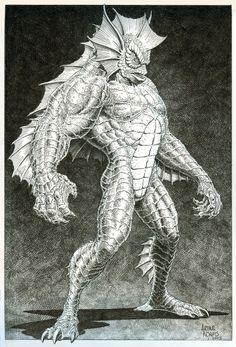 Manphibian by Arthur Adams