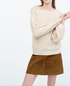 cream coloured jumper | ZARA summer 2015 #springtype #lentetype