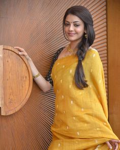 Kajal Aggarwal (aka) Kajal Agarwal high quality photos stills images & pictures Beautiful Bollywood Actress, Most Beautiful Indian Actress, Indian Dresses, Indian Outfits, Kajal Agarwal Saree, Saree Hairstyles, Simple Sarees, Stylish Sarees, Trendy Sarees