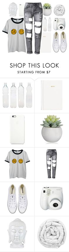 """""""{ Ode To Sleep }"""" by alienwnnabe ❤ liked on Polyvore featuring Seletti, H&M, Black Apple, Chicnova Fashion, Converse and Brinkhaus"""