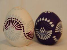 Slepičí kraslice 2014 – do páru fialová | Malované velikonoční kraslice pro vás