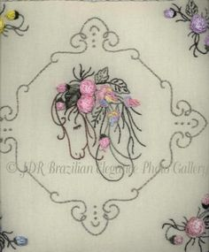 Large Photos Brazilian Embroidery | Brazilian Embroidery Design JDR 6009 Horse Scents