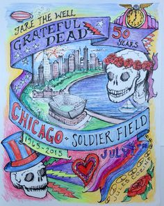 Grateful Dead July 4th show poster by Jules Cozine.