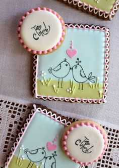 Love Bird Cookies #baking #cookies