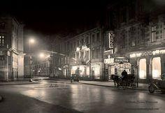 lata 30 -te XX w. Ulica Wierzbowa łączy plac Piłsudskiego z placemTeatralnym. Przed wojną gęsto zabudowana kamienicami. Przy ulicy znajdował się słynny dom dochodowy na zapleczu Teatru Wielkiego - z luksusowymi sklepami oraz pasażem handlowym