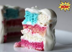 4th of July Protein Flag Cake (Gluten-Free, Low Carb, Low Fat)