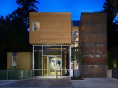 alaskan yellow cedar + corten | Mad Park Residence by Vandeventer + Carlander Architects