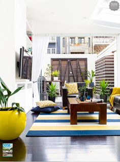 Consider how the indoors connect with the outdoors when decorating a small outdoor space