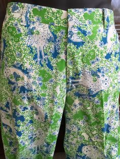 Lilly Pulitzer Vintage Mens Stuff  Colorful Owl Print  Pants  #LillyPulitzer #DressFlatFront
