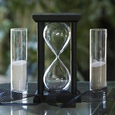 Square Hourglass Sand Ceremony Package - Black or White