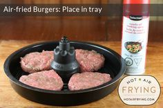 air-fried-burgers - recipe will work in basket type airfryers as well