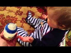"""Baby Sign language - """"milk"""" (started doing it himself at 10 months old!!!)"""