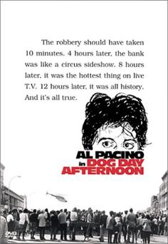 """Dog Day Afternoon Al Pacino, Charles Durning, James Broderick. One of the many roles Pacino SHOULD have won the Oscar for rather than for """"Scent of a Woman"""". Al Pacino, Great Films, Good Movies, Film Movie, Gena Rowlands, Dog Day Afternoon, Movies Worth Watching, Faye Dunaway, Robert Redford"""