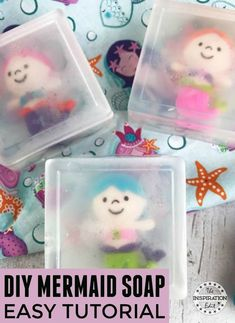 DIY Mermaid Soap For Kids · The Inspiration Edit - Metarnews Sites Mermaid Crafts, Mermaid Diy, Unicorn Crafts, Easy Crafts For Kids, Diy Arts And Crafts, Summer Crafts, Kid Crafts, Creative Crafts, Halloween Crafts