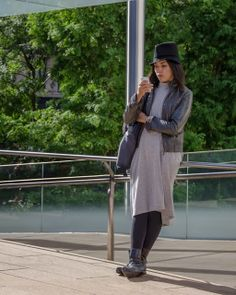 gray grey hat New York Fashion Week SS2014 - Lincoln Center | THE STYLESEER