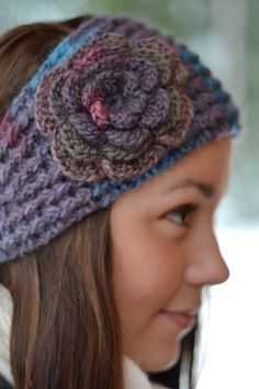 Blue and Purple Headband for women/Earwarmer for women by Rouve, $20.00