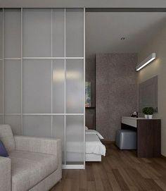 The Best 2019 Interior Design Trends - Interior Design Ideas Studio Apartment Layout, Studio Apartment Decorating, Condo Interior Design, Home Room Design, Interior Door, Home Bedroom, Bedroom Decor, Bedroom Ideas, Design Lounge