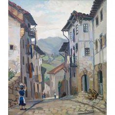 APELLANIZ Jesus - Rue animée du Pays Basque