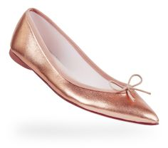 Ballerina Brigitte Pink gold Lambskin by Repetto, Paris