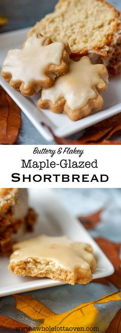 Rich, buttery, flakey and sweet Maple-Glazed Shortbread is nothing short of decadent and SCREAMS FALL!