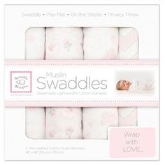 Set of 4 Muslin Swaddle Blankets by Swaddle Designs
