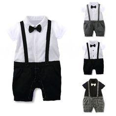 Newborn Infant Kids Baby Boy Gentleman Romper Jumpsuit Bodysuit Clothing Outfits #Unbranded #DressyEverydayHoliday