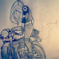 Ottonero Cafe Racer: Sketch Babe
