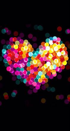 colorido coração