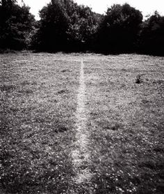 A line made by walking, Richard Long