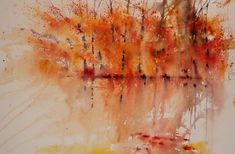 """""""Golden Fall"""" Its' amazing how one painting or idea can quickly lead to many more. Having just painted a quick autumn study of the. Watercolor Landscape, Fine Art Gallery, Contemporary Artists, Autumn, Fall, Watercolours, Organize, Landscapes, Trees"""
