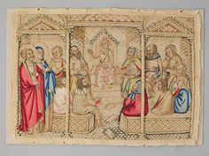 Christ  Among the Doctors  --  14th Century  --  Italy  --  Silk on canvas  --  The Metropolitan Museum of Art
