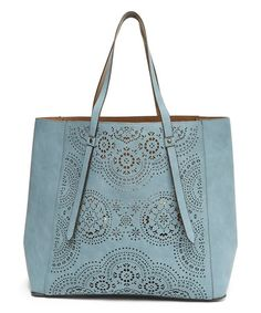 Look what I found on #zulily! Blue Perforated Reversible Tote #zulilyfinds