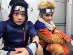 Uchiha Sasuke and Uzumaki Naruto Naruto And Sasuke, Naruto Art, Naruto Shippuden Anime, Anime Naruto, Cosplay Anime, Male Cosplay, Naruto Cosplay, Shikamaru, Dibujo