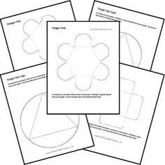 A imprimer gratuitement !  Une multitude de modèles de formes, enveloppes, accordéons pour fabriquer facilement un cahier interactif.