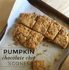 Chocolate Chip Pumpkin Scones | When you need a sweet treat with a minimum of dishes