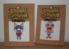 Orange and Cyan Arts: Animal Cross Stitching