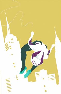 Spider-Gwen by Hector Barros #Spiderwoman #Spiderman #SpiderVerse