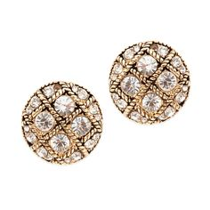 We love the classic elegance of the Emmaline earrings. Bold and oozing in vintage flair, Emmaline features a tick tack toe of circular CZ's, separated by twisted gold detail. These stunners will pair perfectly with statement and simple necklaces.  Find it on Splendor Designs