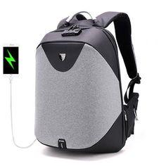 168da888c [R$351,09 51% OFF]Mochila Antitheft Masculino com Trava de Costas e Porta  de Carregamento USB Bolsa masculina from Bolsas & Sapatos on banggood.com