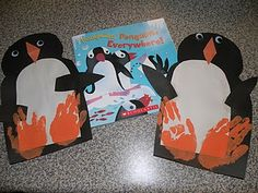 Use handprints for the penguin's feet to create a CUTE January craft.