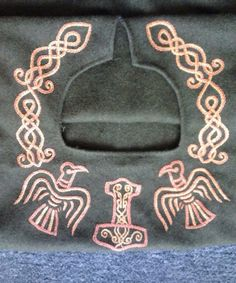 celtic viking neck embroidery