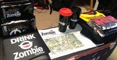 Zombie Coffee care package Zombie Coffee, Self Serve, Coffee Branding, Coffee Shop, Packaging, Drinks, Coffee Shops, Drinking, Coffeehouse