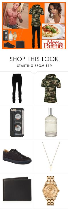 """""""I'm just tryna get you out the friend zone cause you look even better than the photos"""" by xdaydream-anonsx ❤ liked on Polyvore featuring Odette, AMIRI, (MALIN+GOETZ), Lanvin, Gucci, The Men's Store, Versace, men's fashion and menswear"""