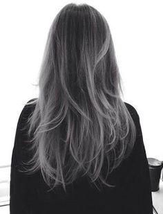 Image result for grey balayage hair
